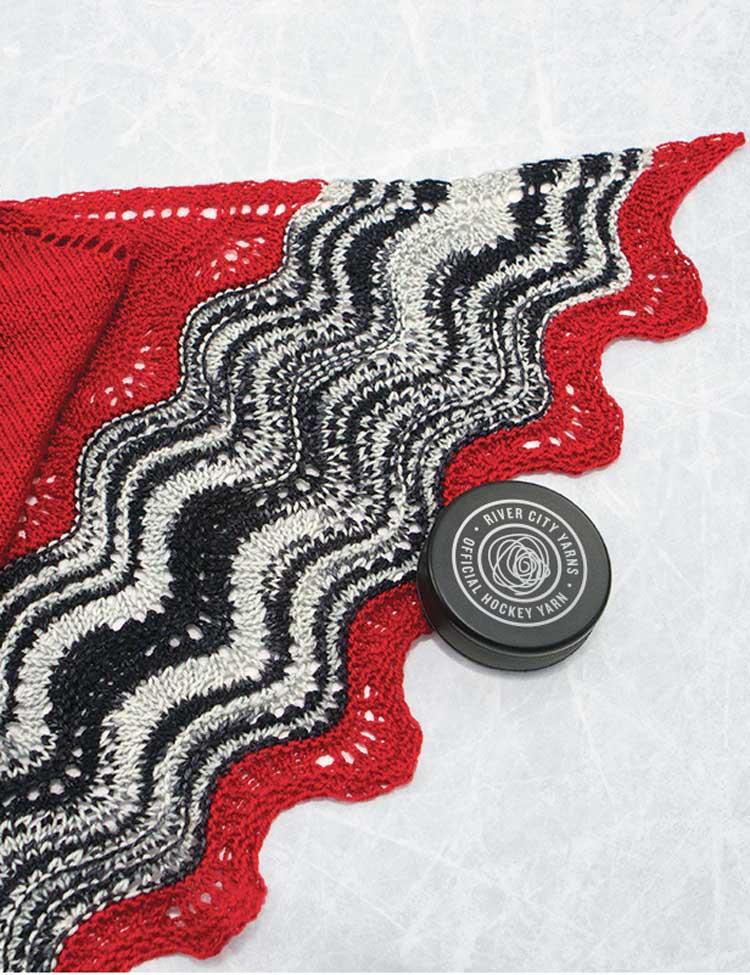 Hot Shawl knitting pattern by Holli Yeoh | River City Yarns