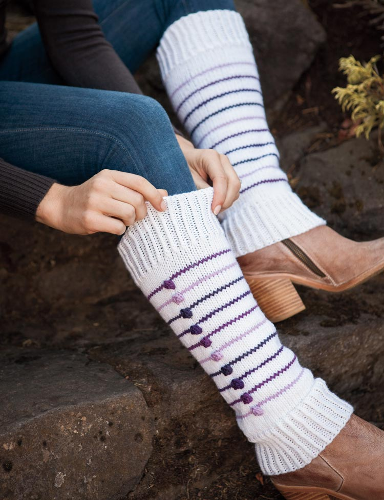 Eclate Leg Warmers knitting pattern by Holli Yeoh | Charmed: Whimsical Knitted Accessories