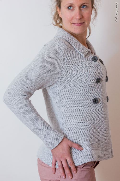 Sawteeth sweater pattern by Holli Yeoh | Twist Collective Winter 2015