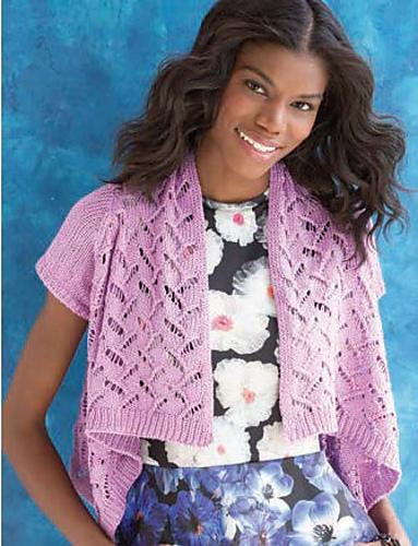 Cropped Bolero knitting pattern by Holli Yeoh | 60 Quick Cotton Knits