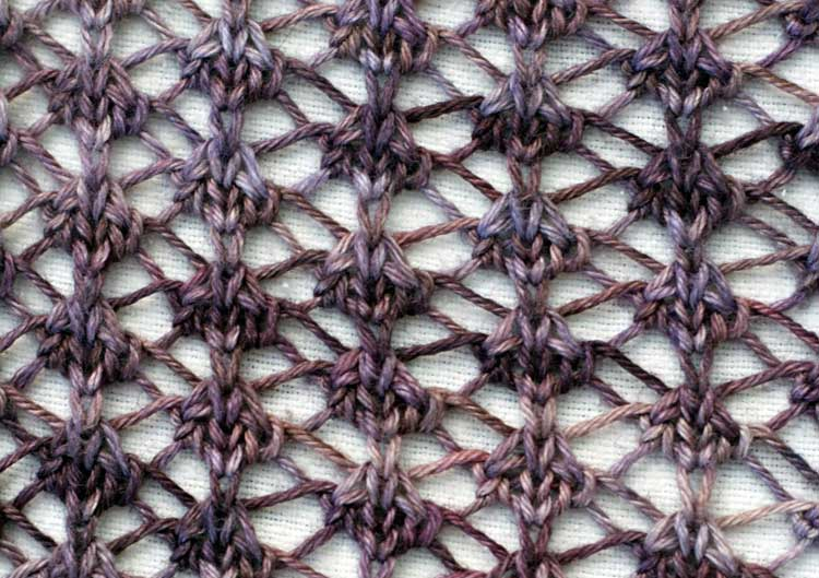 Detail of Stormwatch stitch pattern | pullover knitting pattern by Holli Yeoh