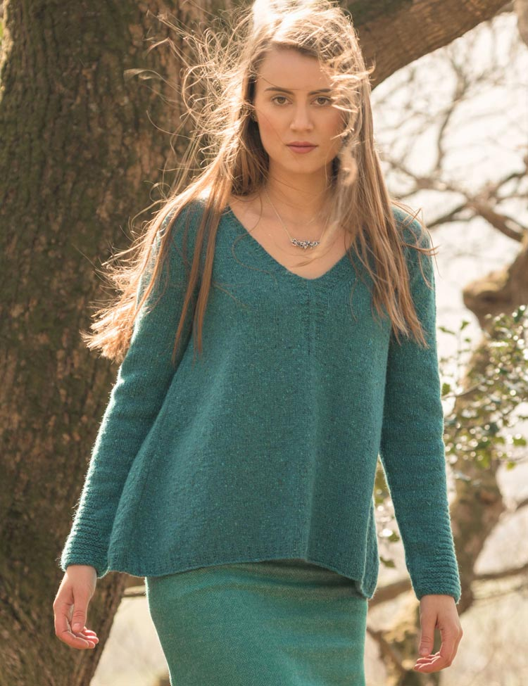 Rathbone pullover knitting pattern by Holli Yeoh