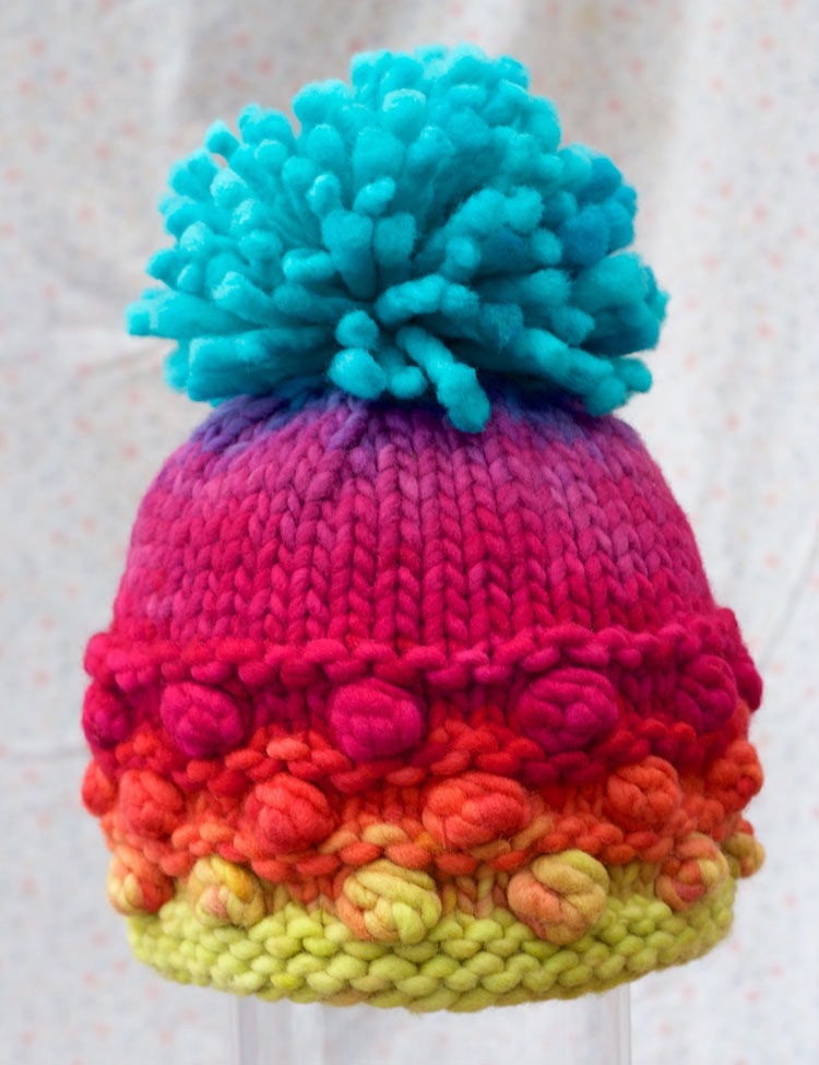 PomPom and Tuft Hat knitting pattern by Holli Yeoh