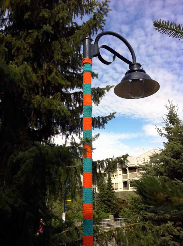 Yarn Bombing in Whistler