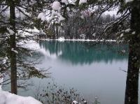 Emerald-coloured lake