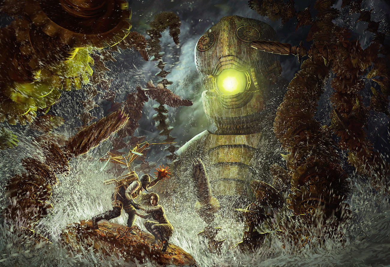 Steampunk Perseus vs. The Kraken