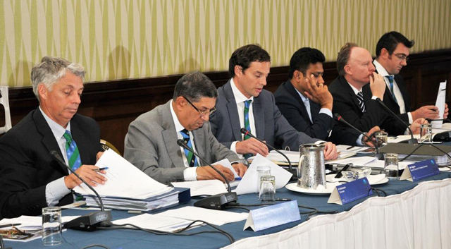 ICC executives at the annual conference which is currently being held in Barbados.