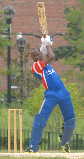 Barrington Bartley 70 came off 53 balls with 4x4 3x6. Photo by Shem Rodney