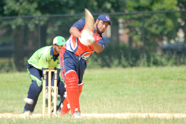 F. Ali of National during his knock of 57. Photo by Shem Rodney