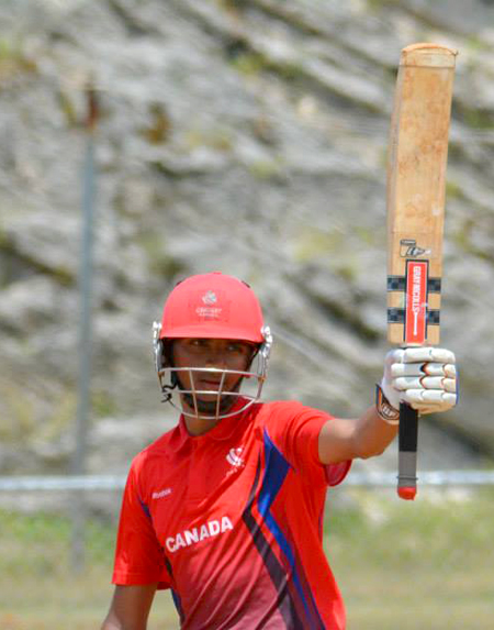 Canada century maker Harsh Thaker. Photo courtesy of Bermuda Cricket Association