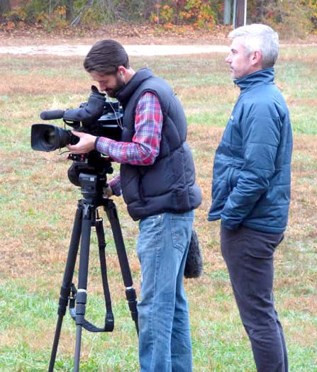 A television news crew from the Australian Broadcasting Corporation visited Glenn Dale to shoot a story on the rapid growth of cricket in Maryland.