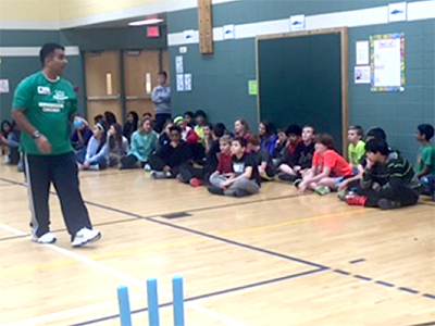 Sham Chotoo of Bowie Boys and Girls Club and Maryland  Youth Cricket Association.