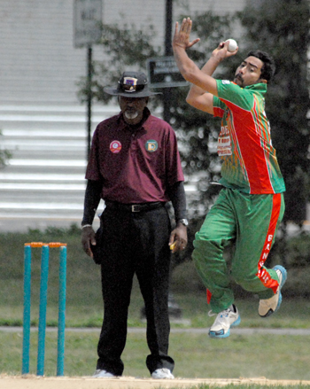 Syed Hussain took the first hat-trick of the tournament, taking 3 for 24.