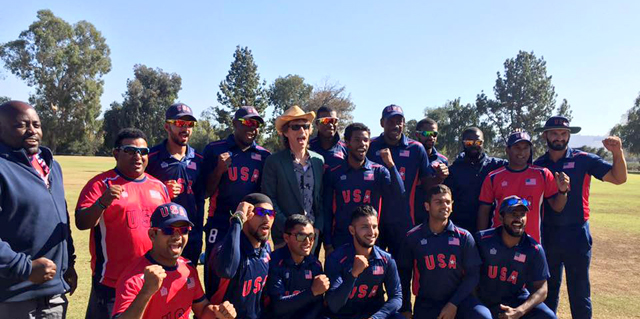 USA team with rock star Mick Jagger.