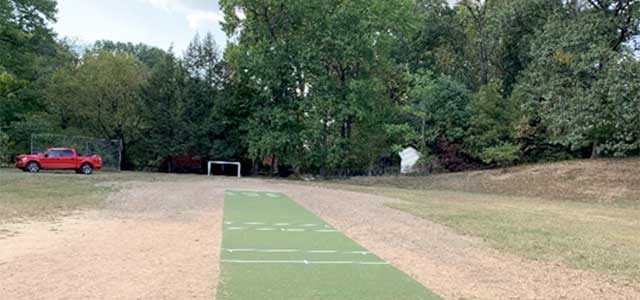 New Pitch For Youth Cricket At University Park Elementary School