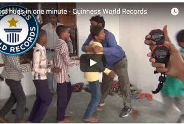 The World Record for Most Hugs in a Minute