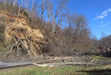 Land Slide on Highway 74 Over Weekend