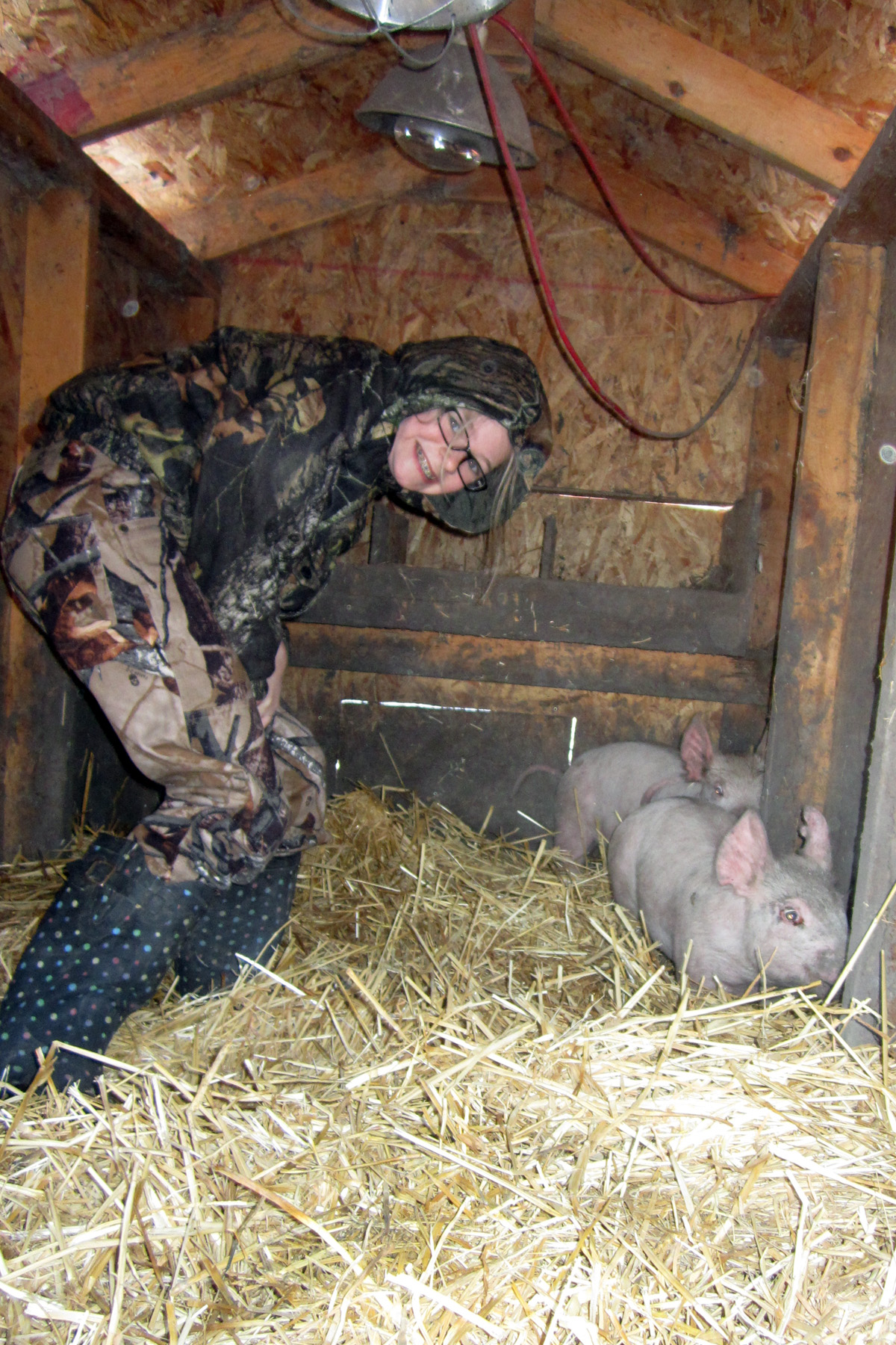 Reagan and Her Pig