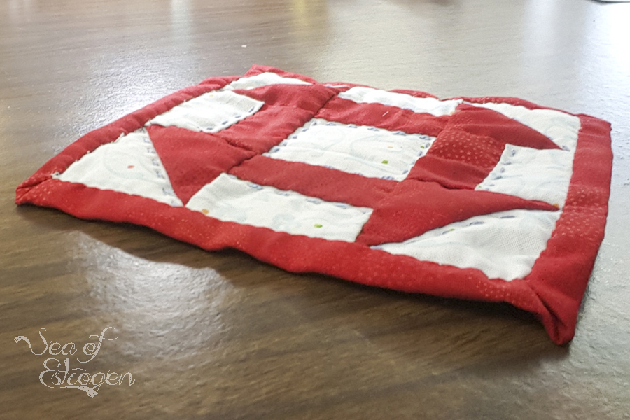 Hand Piecing and Quilting – October's TSNEM Project