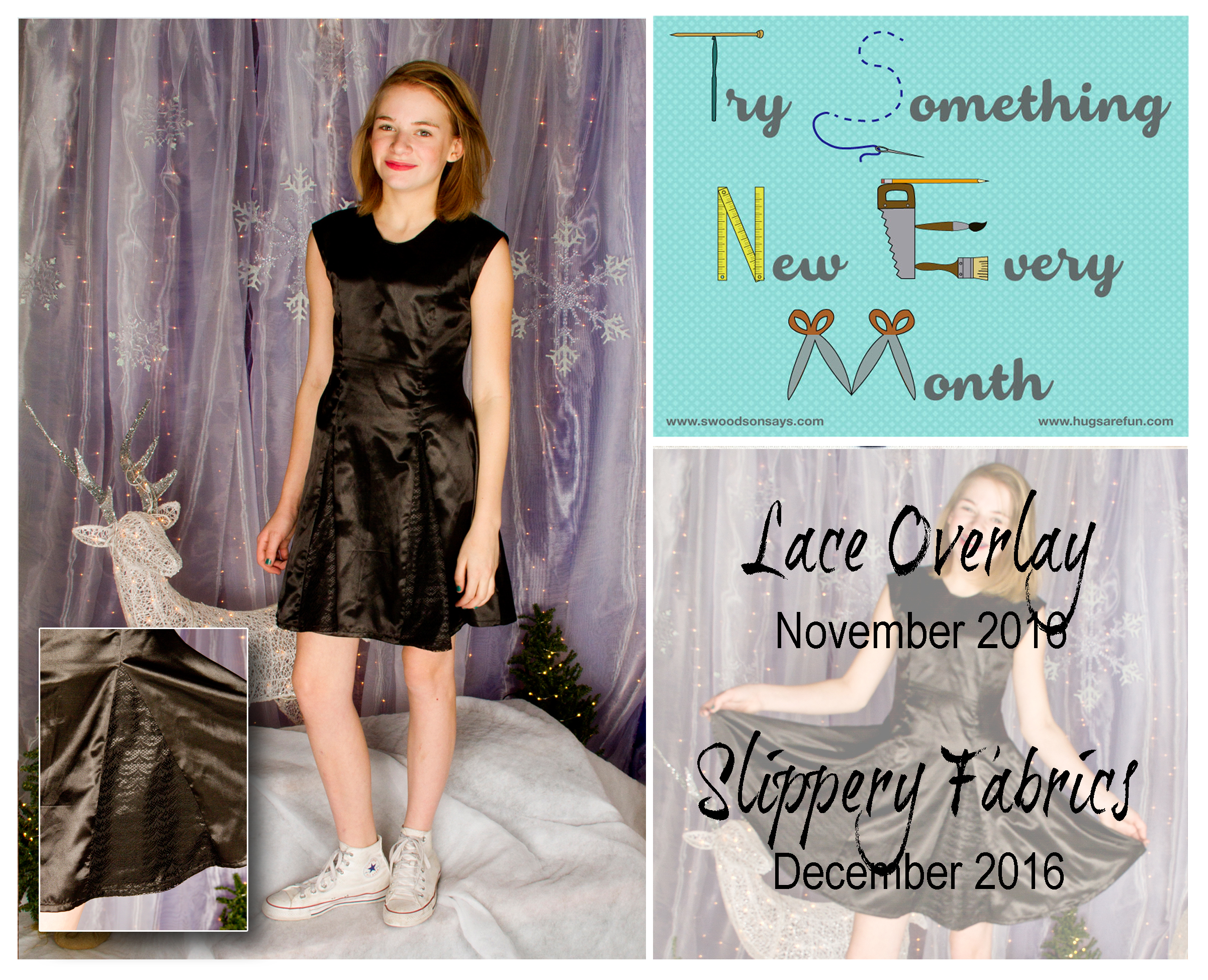 Lace Overlay & Slippery Fabric - November & December TSNEM