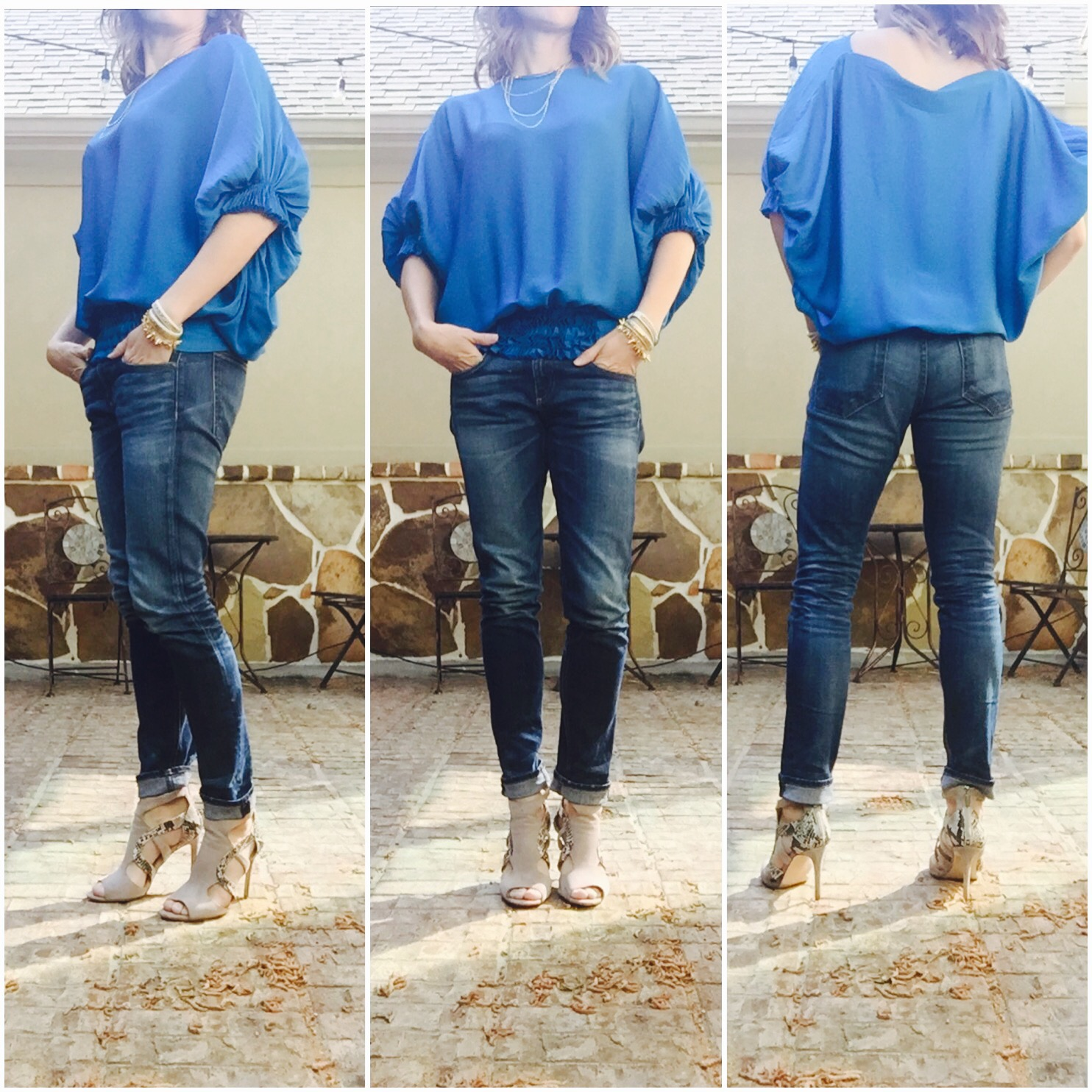 diane von furstenberg, blue, blouse, everyday style, method39, style advisor, how to wear it