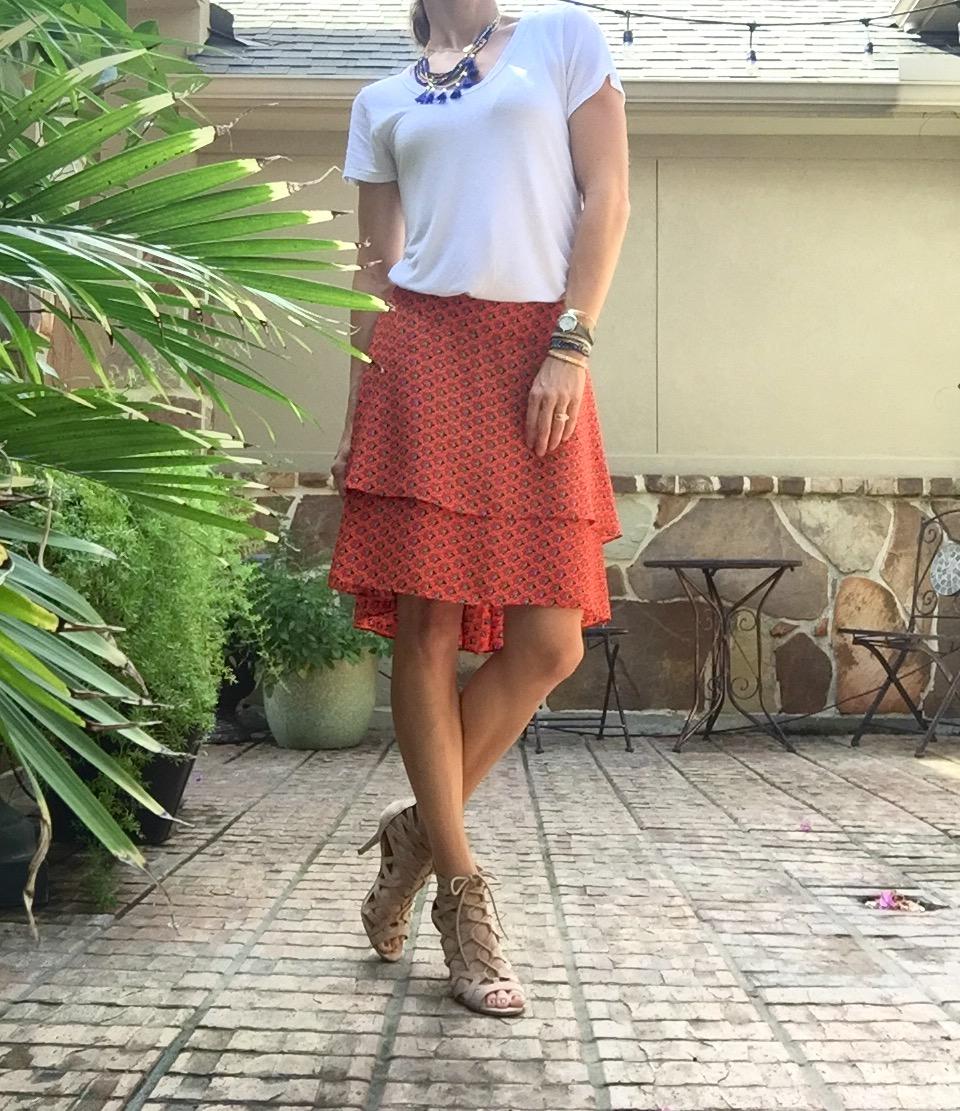 Pretty Skirt and a White Tshirt