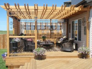 deck, lattice, outdoor space, budget, before, after, method39, spending, planning, upgrades, spend what you make, financial peac