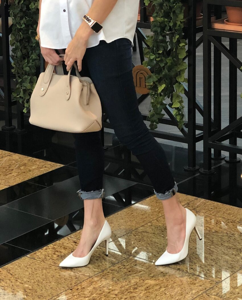 navy, white, zara, contrast, method39, style advisor, find your style, favorite color, button up, casual, untucked, navy blue, wear it