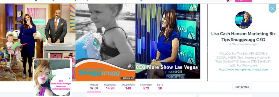 Top Social media marketing Influencer Lisa Cash Hanson Mompreneur Mogul