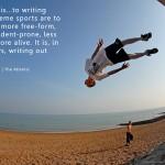 Blogging image skateboard inspiratonal text