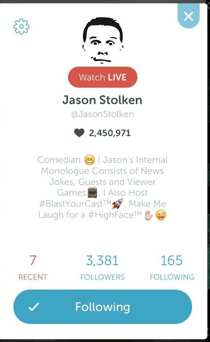 Jason Stolken Periscope Top 10 Weekly