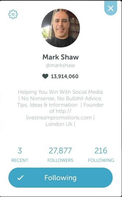 Mark Shaw Periscope Top 10 Weekly