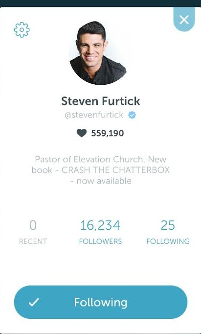 Steven Furtick Periscope Top 10 Weekly