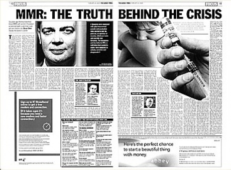 Dr. Andrew Wakefield's paper on MMR vaccines as it appeared in The Lancet
