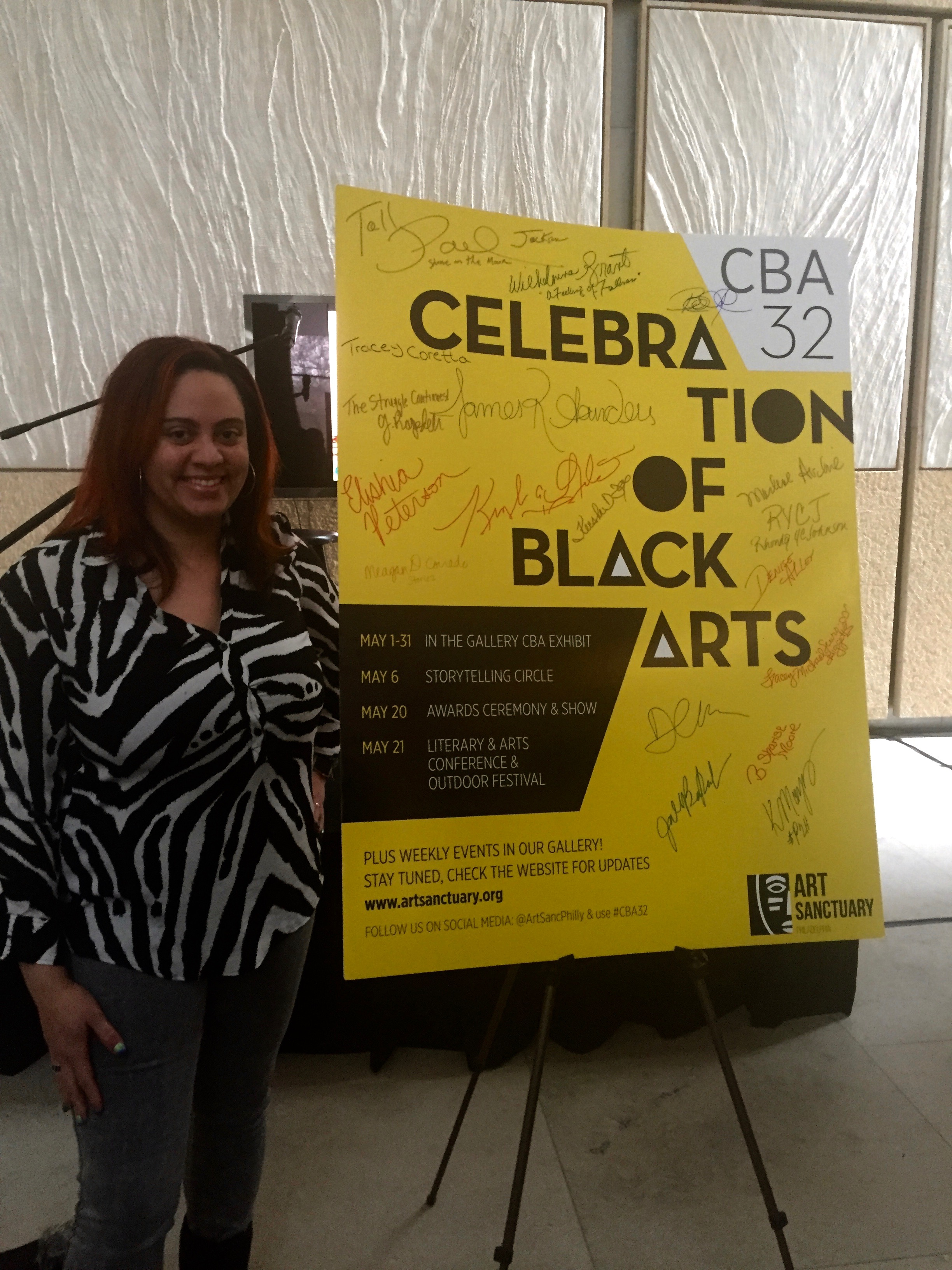 Storiez creator Meagan Corrado and other workshop presenters for Art Sanctuary's Literary and Arts Conference were honored at an event at the Barnes Foundation on 2/7/16A