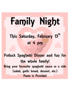 Family NightThis Saturday