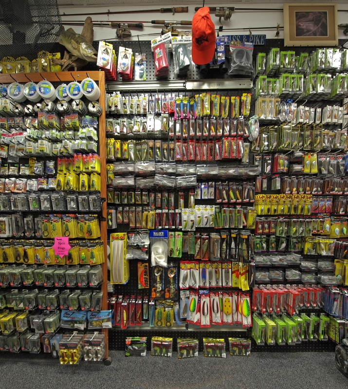HLS - Inside Store Random Product Pictures - Top Water and Big Pike Lures.
