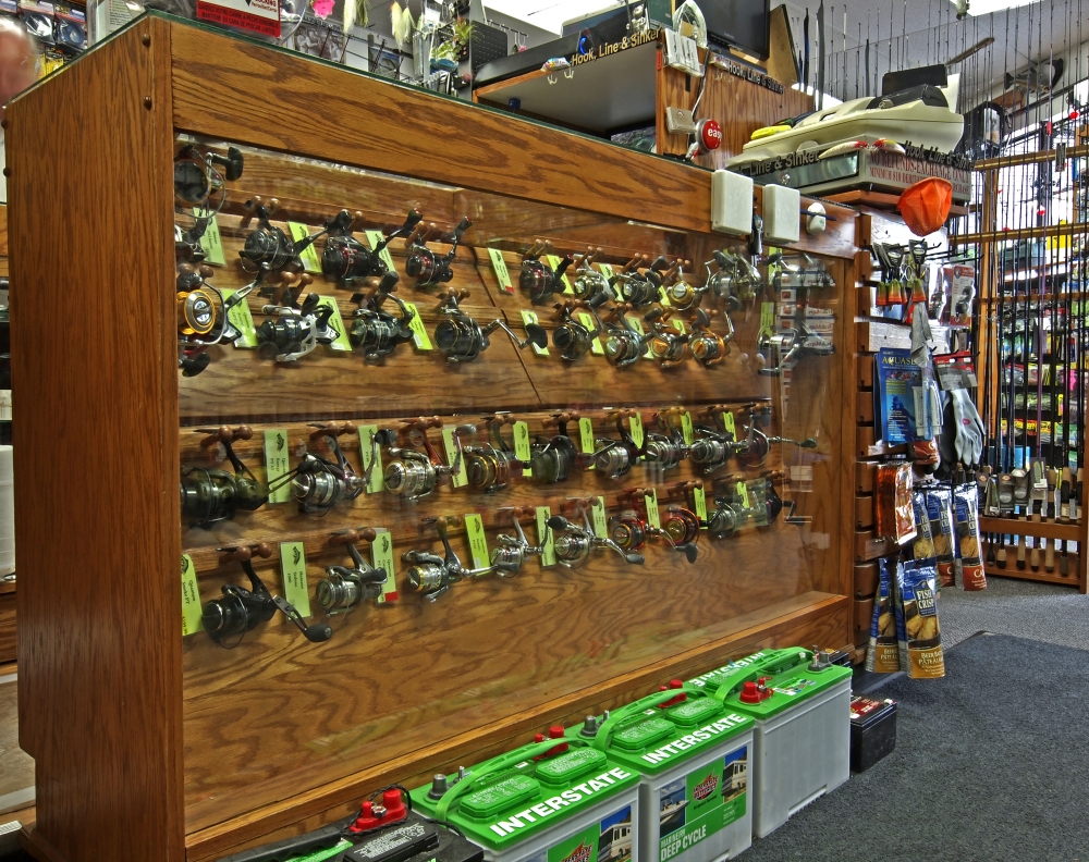 HLS - Store Random Product Pictures - Spinning Reel Display.