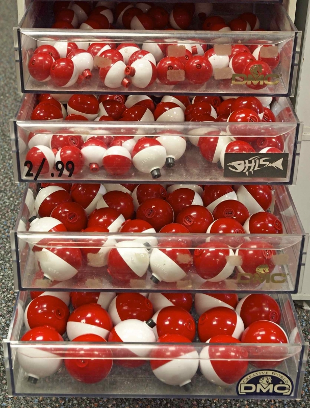 Red and White Fishing Bobbers.
