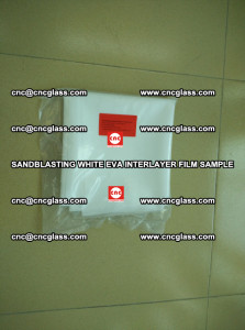 Sandblasting White EVA INTERLAYER FILM sample, EVAVISION (1)