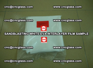 Sandblasting White EVA INTERLAYER FILM sample, EVAVISION (20)