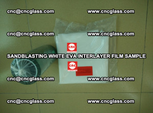 Sandblasting White EVA INTERLAYER FILM sample, EVAVISION (44)