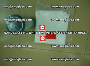 Sandblasting White EVA INTERLAYER FILM sample, EVAVISION (50)