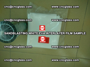 Sandblasting White EVA INTERLAYER FILM sample, EVAVISION (52)