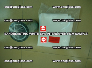 Sandblasting White EVA INTERLAYER FILM sample, EVAVISION (57)