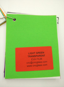 Light Green EVAVISION transparent EVA interlayer film for laminated safety glass (41)