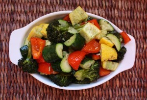 Roasted Bell Peppers, Broccoli and Squash - small