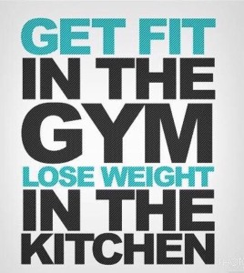Get Fit in the Gym. Lose Weight in the Kitchen.