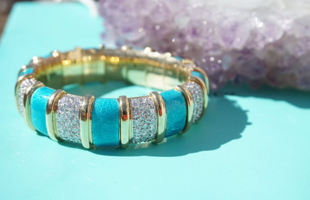 Tiffany & Co. Enamel & Diamond Bracelet by Jean Schlumberger