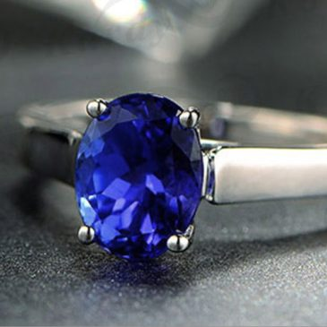 1.37 Ct Blue Tanzanite White Gold 14K Ring